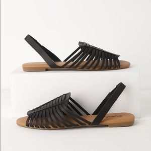 Shoes - Black huarache strap sandals NWT